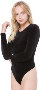 Stretch Velour Long Sleeve Bodysuit