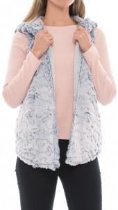 dylan Chambray Faux-Fur Vest (For Women)