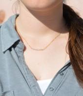 Etsy Quartz crystal Necklace, Gem Bar, Dainty 14k Gold Fill, Sterling Silver, Rose Gold, White Necklace,