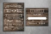 Etsy Country Wedding Invitations Set Printed, Rustic Wedding Invitation, Burlap, Kraft, Wood, Lights, Out