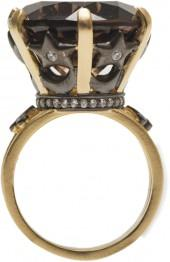 Smokey Topaz Crown Ring