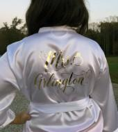 Etsy Bridesmaid Robes, Bride Robe, Bridal Robes, Silk Satin Monogrammed Robes, Personazlized Wedding Gift