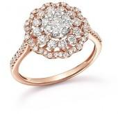 Diamond Flower Burst Statement Ring in 14K Rose Gold, 1.0 ct. t.w. - 100% Exclusive