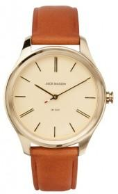 Women's Jack Mason Slim Leather Strap Watch, 38Mm