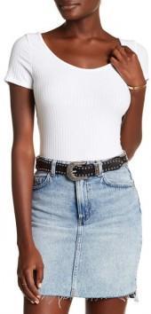 NYTT Short Sleeve Ribbed Bodysuit