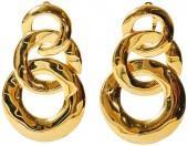 One Kings Lane Vintage Triple-Link Circle Earrings