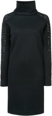 Akris Punto turtleneck knit panel dress
