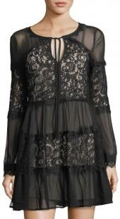 Willow & Clay Long-Sleeve Lace-Inset Dress
