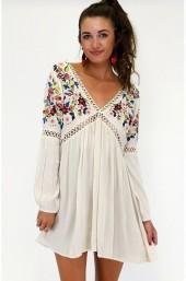Embolden Embroidery Mini Dress
