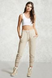 FOREVER 21 Distressed French Terry Joggers