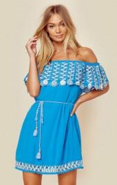 Rahi cali daisy off shoulder dress