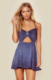 Blue life peek a boo mini dress