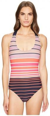 MICHAEL Michael Kors Abby Stripe One-Piece