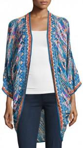Tolani Shara Printed Wrap Jacket
