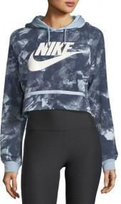 Nike Modern Hoodie Crop Glacier-Print Sweatshirt