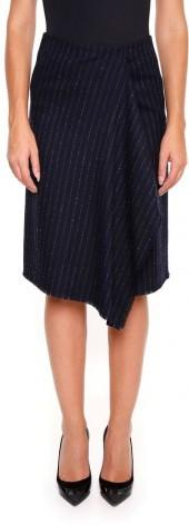 Pinstriped Wool Marta Skirt