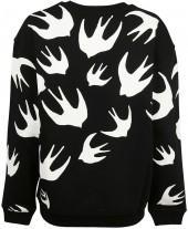 McQ Alexander McQueen Alexander Ueen Striped Crewneck Sweatshirt