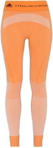 Stella McCartney orange seamless yoga tights