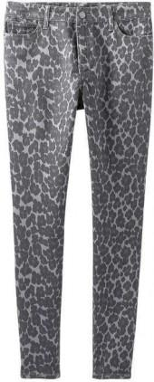 Joe Fresh Women's Print Twill Pant, Grey (Size 32)
