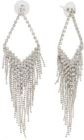 Crystal Triangle Fringe Earrings