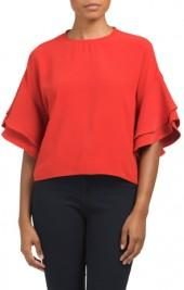 Juniors Double Ruffle Top