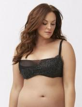 French balconette bra with shimmer lace overlay