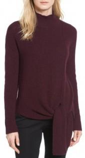 Petite Women's Halogen Tie Hem Sweater
