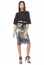 Paillette Sequins Classic Midi Skirt