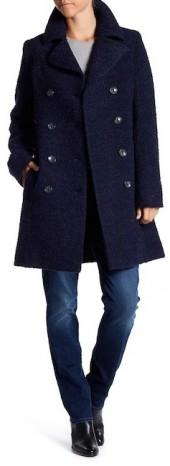 Fleurette Double Breasted Wool Coat