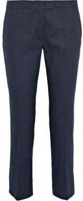 Joseph - Finley Pinstriped Stretch Wool-blend Tapered Pants - Navy