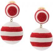 Rebecca de Ravenel Two Drop Striped Earring