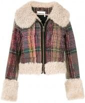 Chloe Cropped Tweed Shearling Jacket