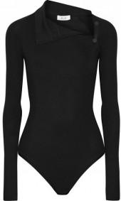 Alix - Linden Ribbed Stretch Modal-jersey Bodysuit - Black