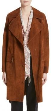 Women's Belstaff Airdale Suede Coat