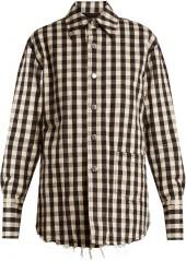 HELMUT LANG Quilted gingham cotton-flannel jacket