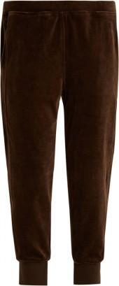 VINCE Tapered-leg cotton-velour track pants