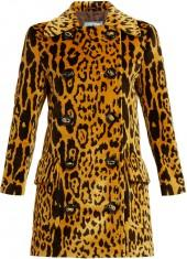 PRADA Animal-print velvet coat