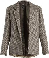 A.P.C. Hall tweed-checked jacket