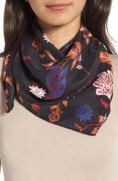 Women's Treasure & Bond Funky Foliage Square Silk Scarf