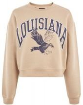 Topshop Louisiana cropped sweatshirt