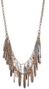 Melrose and Market Double Row Shakey Leaf Necklace
