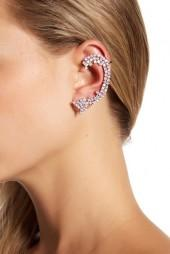 Sterling Forever CZ Cluster Ear Cuffs