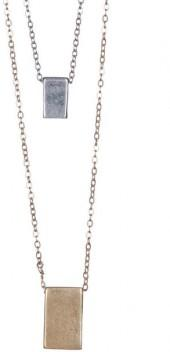 Melrose and Market Block Pendant Necklace - Set of 2