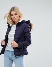 Parisian Padded Jacket With Faux Fur Trim Hood