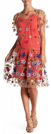Mariella Rosati Borgo Embroidered Dress