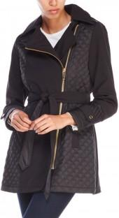 via spiga Petite Quilted Asymmetrical Belt Jacket