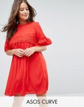ASOS Curve ASOS CURVE Shirred Cotton Smock Dress
