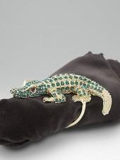L'Objet Set of 4 Crocodile Napkin Rings