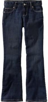 Girls Dark-Wash Boot-Cut Jeans