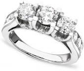 Macy's Diamond Ring, 14k White Gold Diamond (3 ct. t.w.)